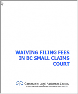 Waiving Filing Fees in BC Small Claims Court