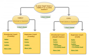 Court rules, forms, and self-help guides to court procedures