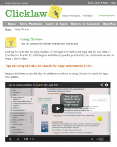 using clicklaw