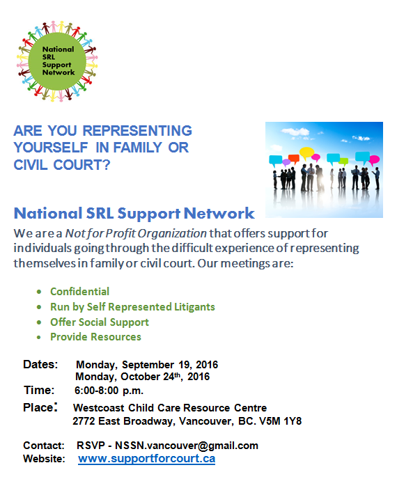 Mediate bc clicklaw blog the national srl support network vancouver branch is holding their next meeting for people representing themselves in family or civil court next monday solutioingenieria Image collections