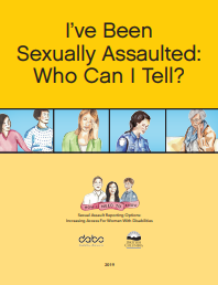 "A screenshot of the cover page of the help sheet ""I've Been Sexually Assaulted: Who Can I  Tell?"""