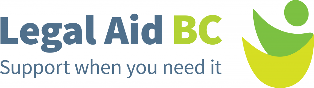 "The new logo of Legal Aid BC and its new tagline ""Support when you need it"""