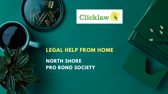 Blog post banner for Legal Help from Home: North Shore Pro Bono Society