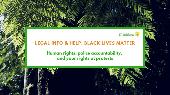 Banner: Legal Info & Help: Black Lives Matter
