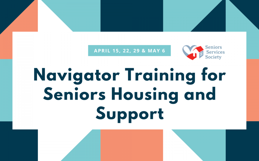 Navigator Training for Seniors Housing and Support: April 15, 22, 29 & May 6